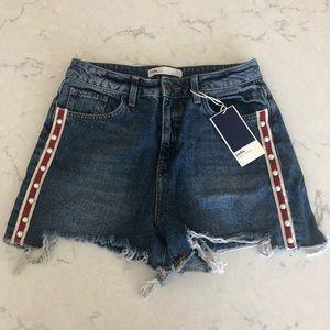 NWT Zara High Waist Jean Shorts - Size 4